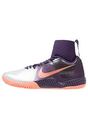 Nike Performance Court Flare Outdoor Tennis Shoes Purple Dynasty Metallic Rose Gold Bright Mango Metallic Silver