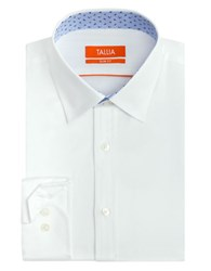 Tallia Orange Slim Fit Solid Dress Shirt White