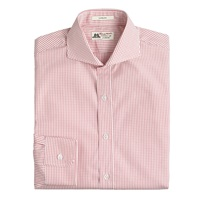 Thomas Mason For J.Crew Ludlow Shirt In Authentic Red Grid Check Athletic Red