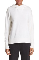 Vince Women's Cashmere And Wool Hoodie Winter White