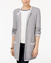Tommy Hilfiger Taylor Striped Cardigan Only At Macy's White Combo