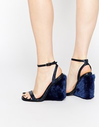 Asos Hippie Wedges Navy