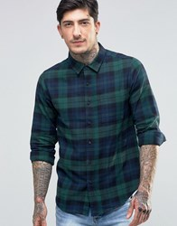 Another Influence Checked Flannel Shirt Green