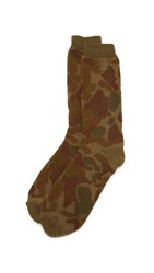 Anonymous Ism Camo Pile Socks Olive