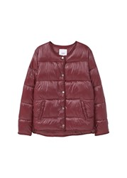 Mango Quilted Jacket Red