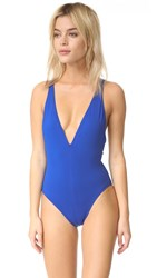 Proenza Schouler Plunging V Neck Maillot Lapis