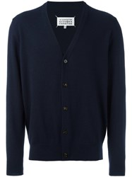 Maison Martin Margiela Elbow Patch Cardigan Blue