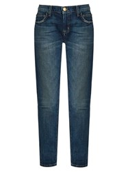 Current Elliott The Fling Low Slung Straight Leg Jeans Mid Blue