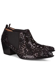Sonia Rykiel Black Sequinned Short Ankle Boots
