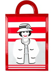 Chanel Vintage 'Mademoiselle' Tote Red