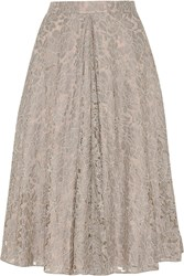 Needle And Thread Guipure Lace Skirt Nude