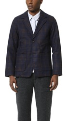 Garbstore Check Precinct Jacket Checked Navy