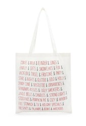 Forever 21 Holiday Tote Cream Red
