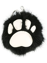 Stella Mccartney Faux Fur Paw Charm Black