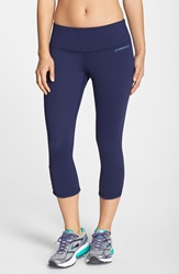 Brooks 'Greenlight' Capri Leggings Navy Navy