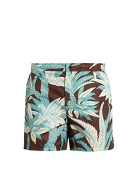 Valentino Palm Tree Print Swim Shorts Navy Multi
