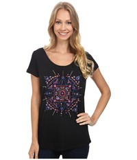 Lucky Brand Mandala Dots Tee Black Mountain Women's T Shirt