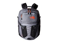 The North Face Women's Recon Dapple Grey Heather Tropical Coral Backpack Bags Gray