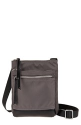 Lodis 'Zora' Nylon And Leather Crossbody Bag Grey