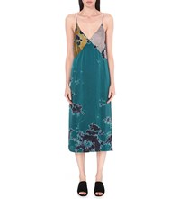 Raquel Allegra Tie Dye Silk Slip Dress Multi Tie Dye