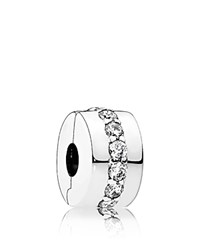 Pandora Design Clip Sterling Silver And Cubic Zirconia Shining Path Moments Collection