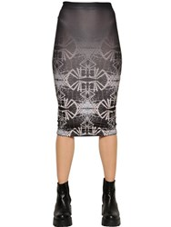 Marcelo Burlon Juarez Printed Jersey Pencil Skirt