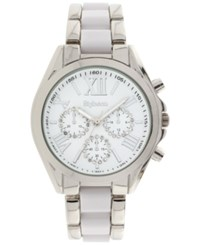 Styleandco. Style And Co. Women's Chronograph Two Tone Stainless Steel And Plastic Bracelet Watch 40Mm Sy005swh Only At Macy's