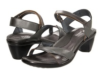 Naot Footwear Cheer Sterling Leather Mirror Leather Women's Dress Sandals Gray