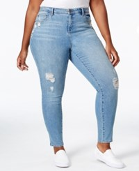 American Rag Trendy Plus Size Ripped Crescent Wash Skinny Jeans Only At Macy's