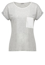 Kiomi February Print Tshirt Light Grey Melange Mottled Light Grey