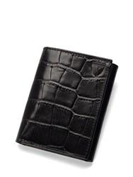 Aspinal Of London Trifold Wallet Black