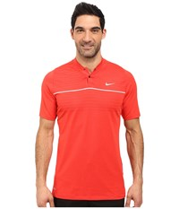 Nike Tiger Woods Vl Max Swing Knit Stripe Light Crimson White Black Reflect Black Men's Short Sleeve Pullover Red