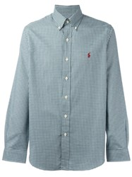 Polo Ralph Lauren Gingham Button Down Shirt Green