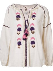 Figue 'Tula' Kaftan Top White