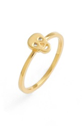 Sydney Evan Diamond Skull Midi Ring Gold