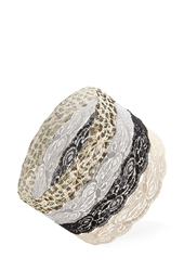Forever 21 Lace Headwrap Set Black Brown