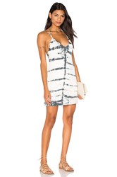 Gypsy 05 Halter Deep V Back Dress Light Gray