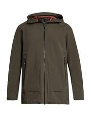 Peak Performance Civil 3 Layer Hooded Jacket Khaki