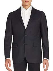 John Varvatos Long Sleeve Woolen Jacket Navy