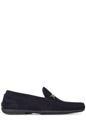 Hugo Boss Flarro Navy Suede Loafers