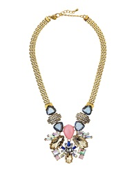 Greenbeads By Emily And Ashley Faceted Rhinestone Mesh Chain Necklace Blue Pink