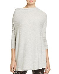 Free People Lover Ribbed Off The Shoulder Sweater Grey