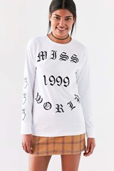 Silence And Noise Miss World Long Sleeve Tee White