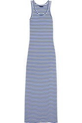 Petit Bateau Striped Cotton Maxi Dress Royal Blue