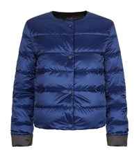 Escada Sport Reversible Quilted Jacket Female Blue