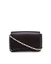 Paco Rabanne Leather Chain Mail Clutch Bag Black Champagne