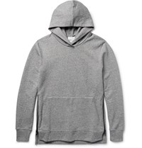 John Elliott Villain Loopback Cotton Blend Jersey Hoodie Gray
