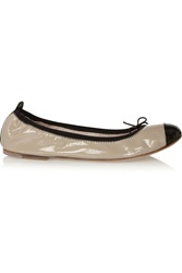 Bloch Lux Patent Leather Ballet Flats Brown