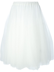 P.A.R.O.S.H. Long Tulle Skirt White