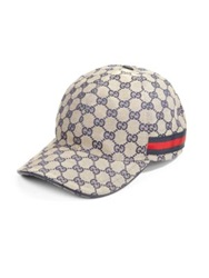 Gucci Canvas Baseball Hat Ink Beige